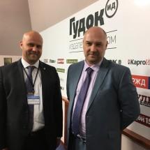 """C главным редактором газеты """"Гудок"""" Алексеем Харнасом"""